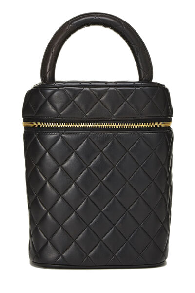 Black Quilted Lambskin Vanity Tall