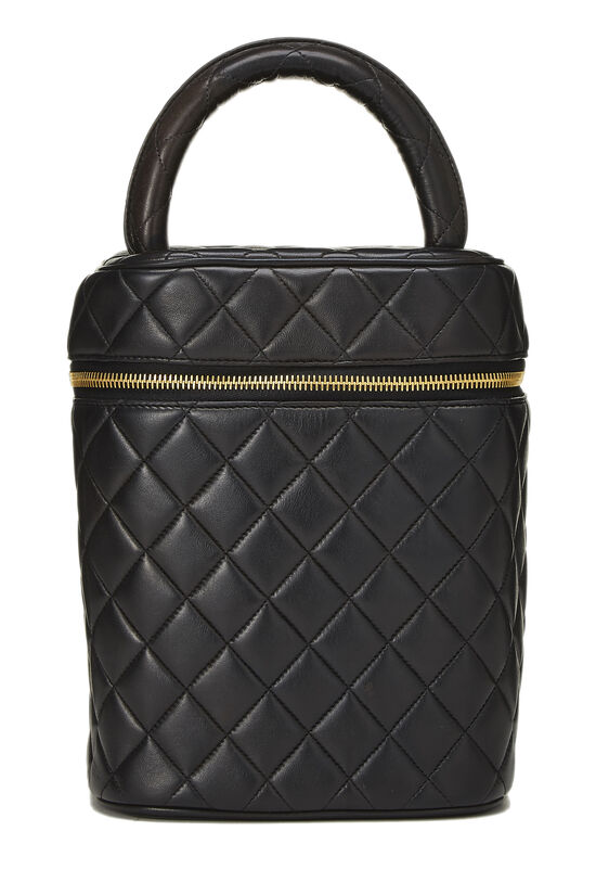 Black Quilted Lambskin Vanity Tall, , large image number 0