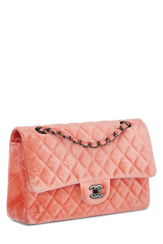 Coral Quilted Velvet Classic Double Flap Medium, , large image number 1