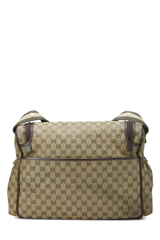 Green GG Canvas Diaper Bag, , large image number 3