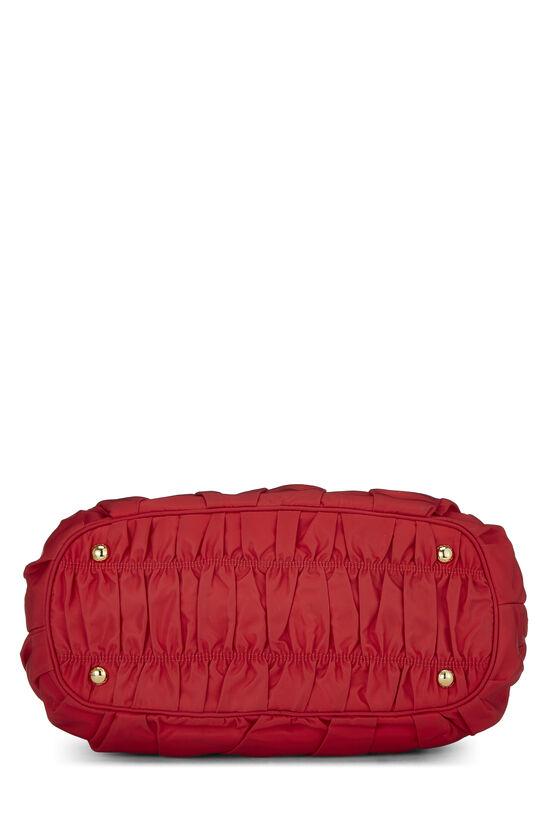 Red Nappa Gaufre Shoulder Bag, , large image number 4