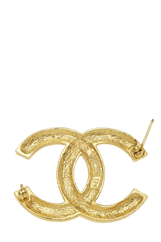 Gold & Crystal 'CC' Pin, , large image number 2