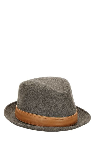 Grey Cashmere Funky Hat