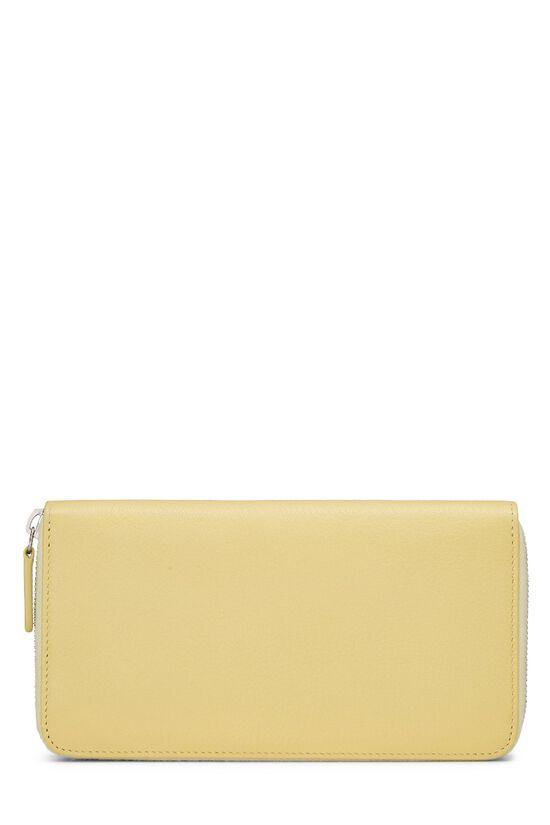 Yellow Calfskin Zip Around Wallet, , large image number 2