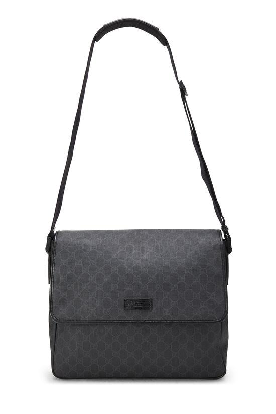 Black Original GG Supreme Canvas Messenger Bag Large, , large image number 6