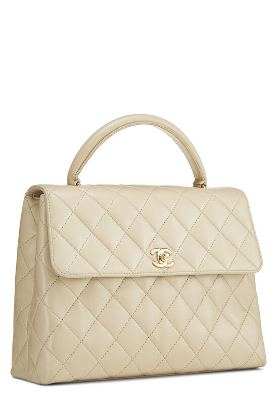 Beige Quilted Lambskin Kelly Medium, , large image number 1