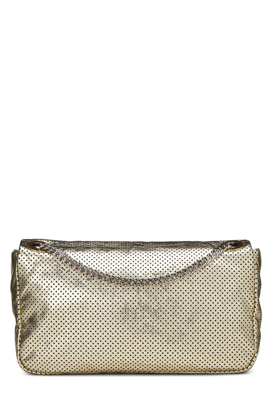Metallic Gold Perforated Leather 2.55 Reissue Flap 227, , large image number 3