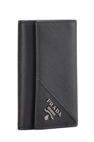 Black Saffiano Key Holder, , large