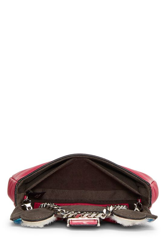 Pink Nappa Leather Monster Baguette Micro, , large image number 5