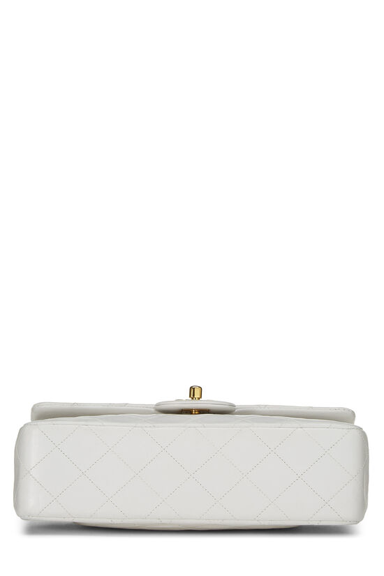 White Quilted Lambskin Classic Double Flap Small, , large image number 4
