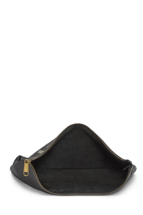 Black Leather Logo Pouch, , large image number 3