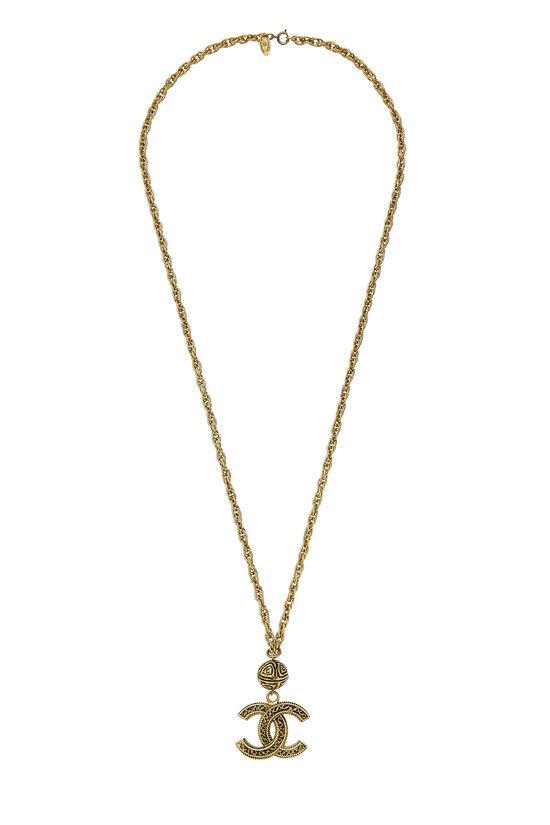 Gold Filigree 'CC' Necklace, , large image number 0