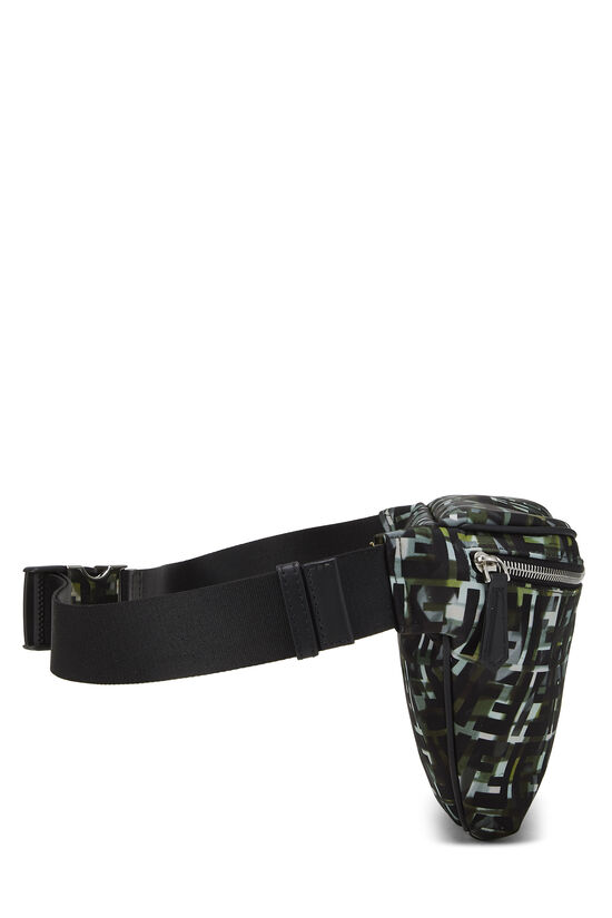 Multicolor Abstract Zucca Nylon Belt Bag, , large image number 2