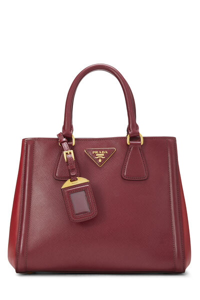 Red Saffiano East West Tote Small