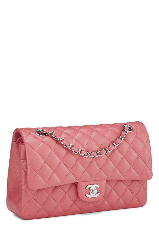 Pink Quilted Lambskin Classic Double Flap Medium, , large image number 1