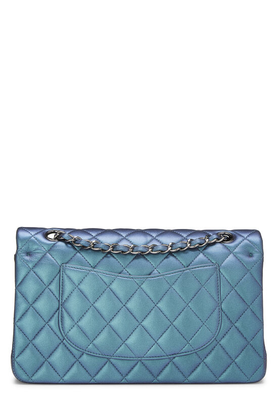 Iridescent Blue Quilted Lambskin Classic Double Flap Medium, , large image number 3