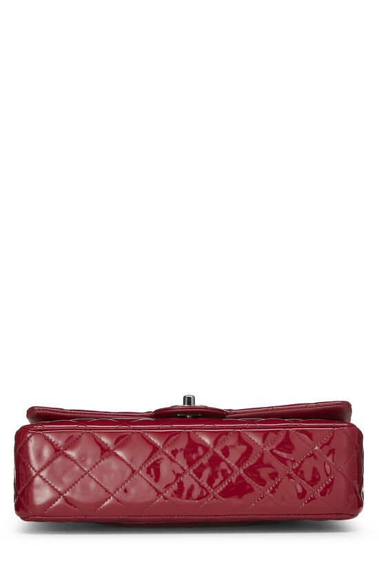 Red Quilted Patent Leather Classic Double Flap Medium, , large image number 4