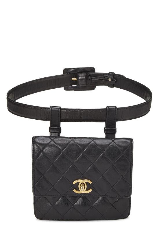 Black Quilted Lambskin Belt Bag 70, , large image number 0