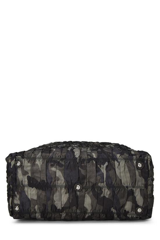 Black Camouflage Tessuto Fringe Tote, , large image number 4