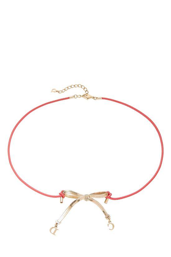 Pink & Gold Elastic Choker, , large image number 1