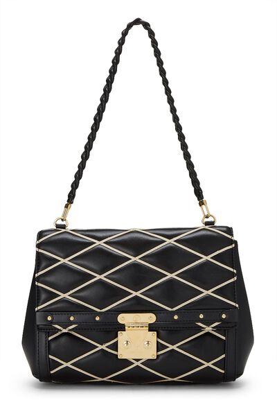 Black Malletage Pochette Flap Bag