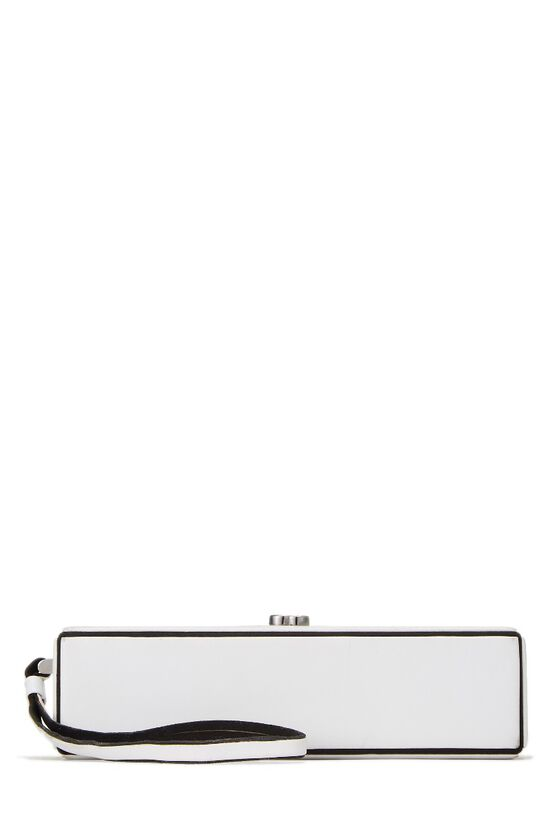 White Lambskin Clutch, , large image number 0