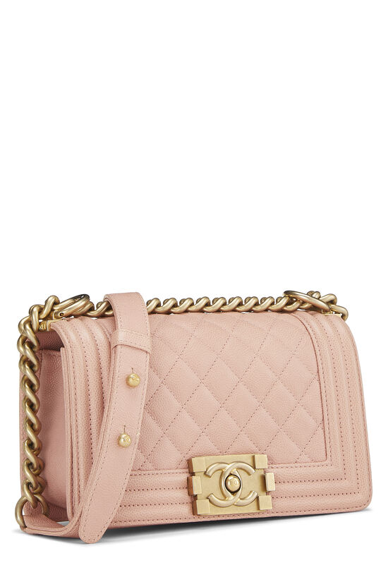 Pink Quilted Caviar Boy Bag Small, , large image number 1