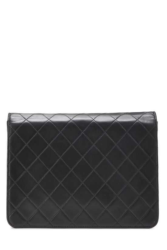 Black Quilted Lambskin Ex Flap Small, , large image number 4