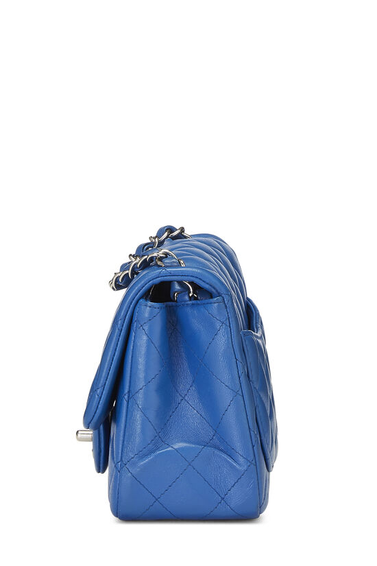 Blue Quilted Lambskin Classic Square Flap Mini, , large image number 2