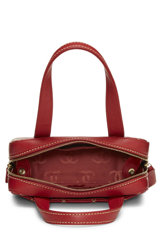 Red Leather Wild Stitch Boston Handbag, , large image number 5