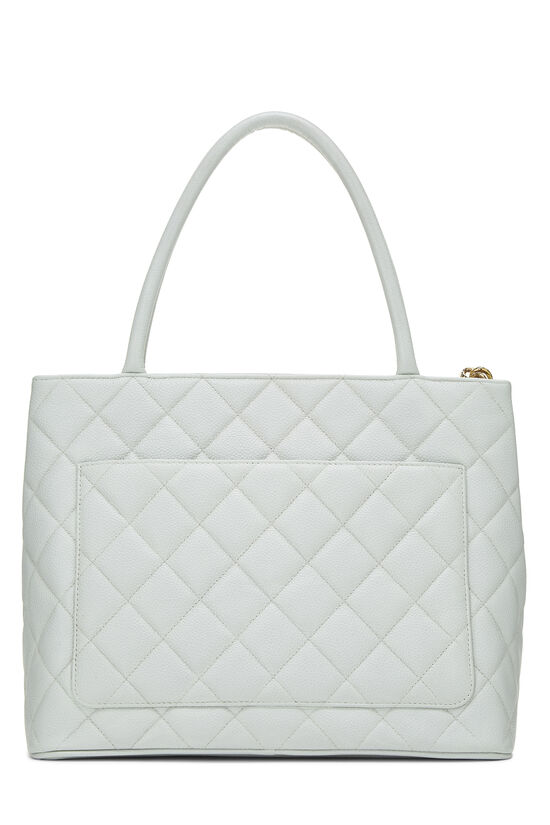 Blue Quilted Caviar Medallion Tote, , large image number 3