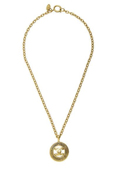 Gold 'CC' Sunburst Necklace