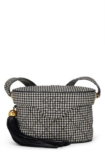 Black & White Wool Houndstooth Binocular Bag Small
