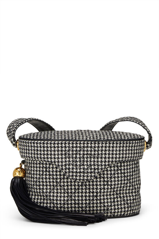 Black & White Wool Houndstooth Binocular Bag Small, , large image number 0