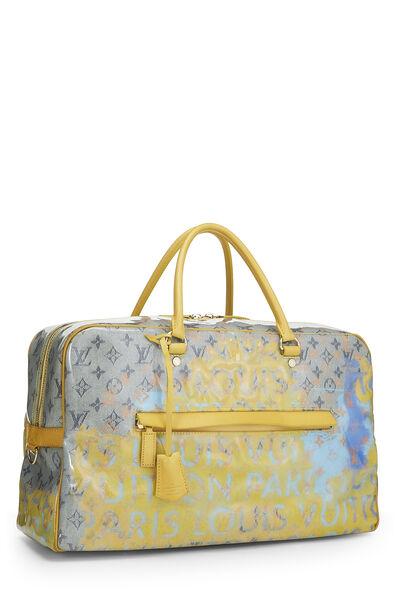 Richard Prince x Louis Vuitton Jaune Denim Pulp Weekender GM, , large