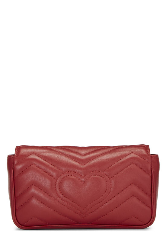 Red Leather Marmont Crossbody Extra Mini, , large image number 4