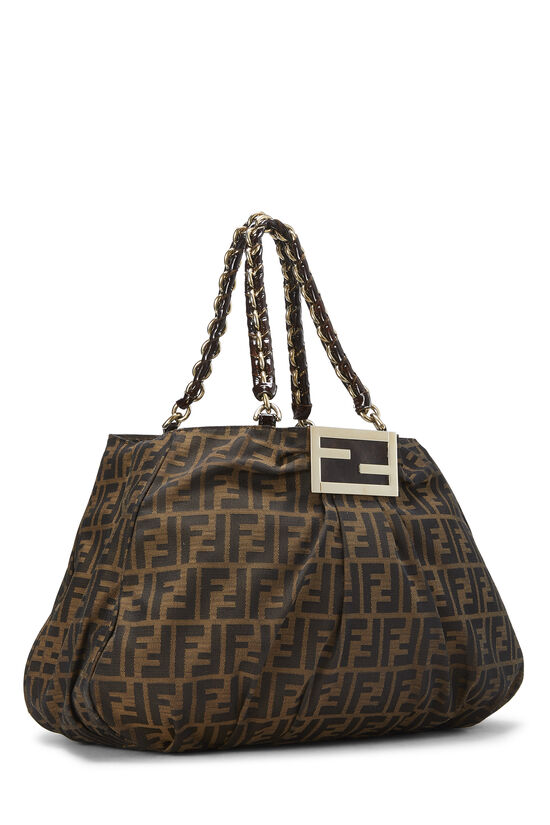 Brown Zucca Canvas Mia Hobo Large, , large image number 1