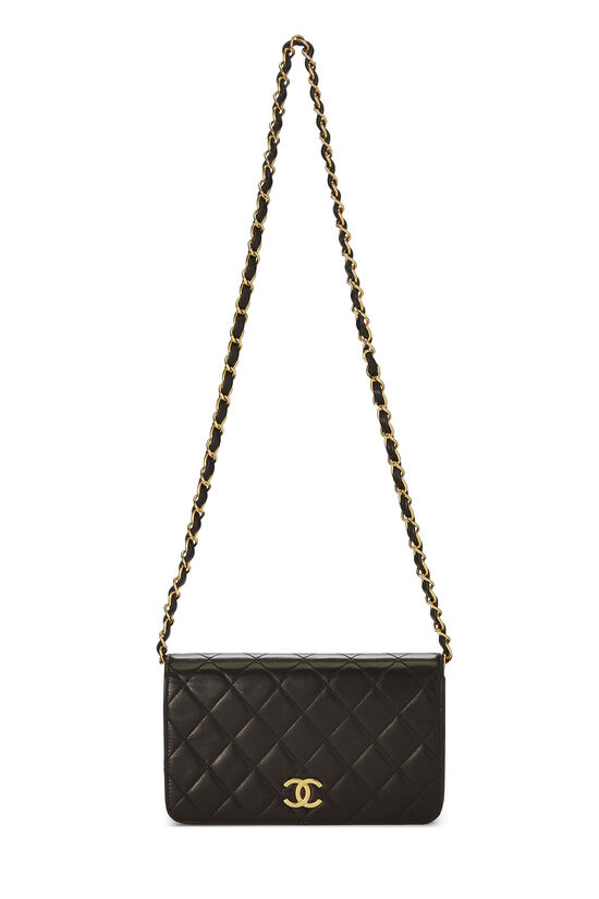 Black Quilted Lambskin Full Flap Mini, , large image number 6