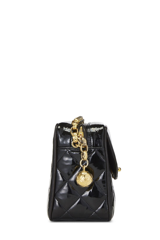 Black Quilted Patent Leather Pocket Camera Bag Mini, , large image number 3