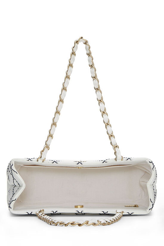 White Calfskin Wild Stitch Tote, , large image number 5