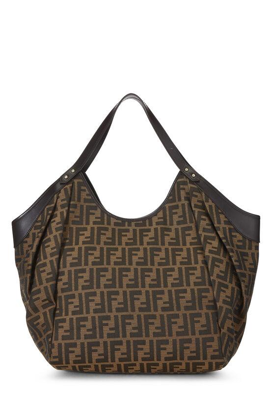 Brown Zucca Canvas Handbag Large, , large image number 3