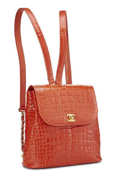 Orange Alligator Backpack, , large