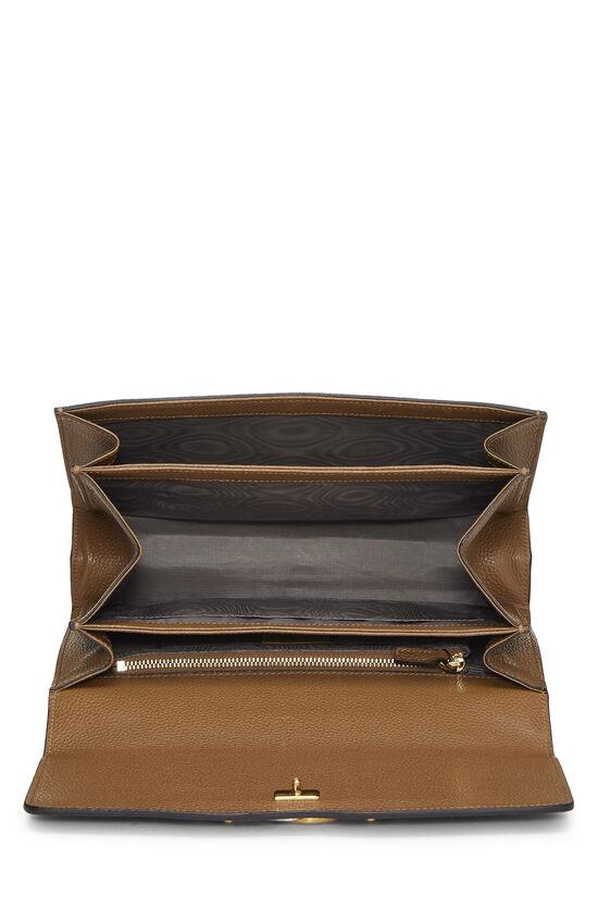 Brown Leather Zumi Shoulder Bag Small, , large image number 6