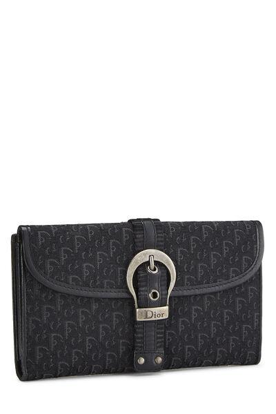 Black Trotter Canvas Flap Wallet, , large