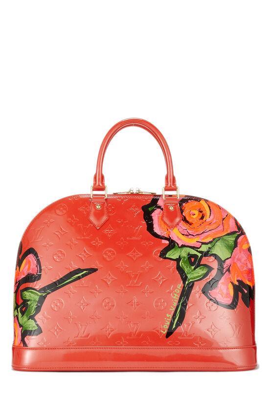 Stephen Sprouse x Louis Vuitton Pink Monogram Vernis Roses Alma GM, , large image number 3