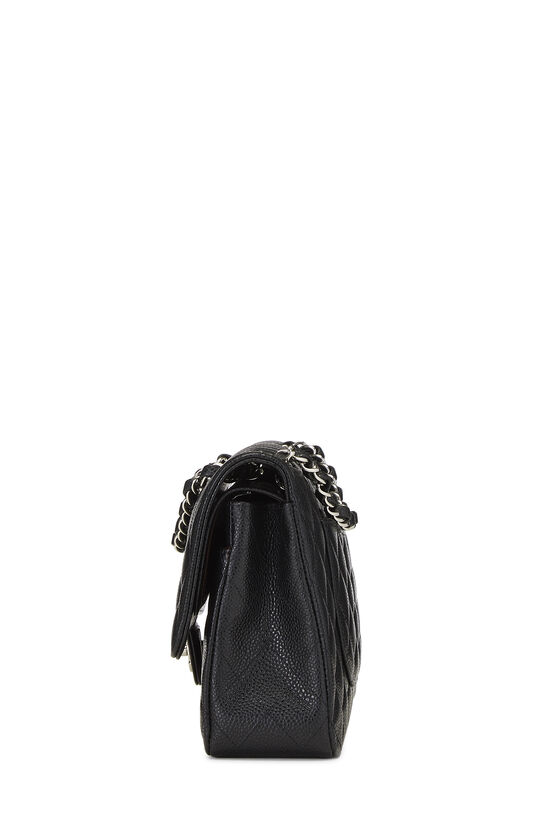 Black Quilted Caviar Classic Double Flap Medium, , large image number 2