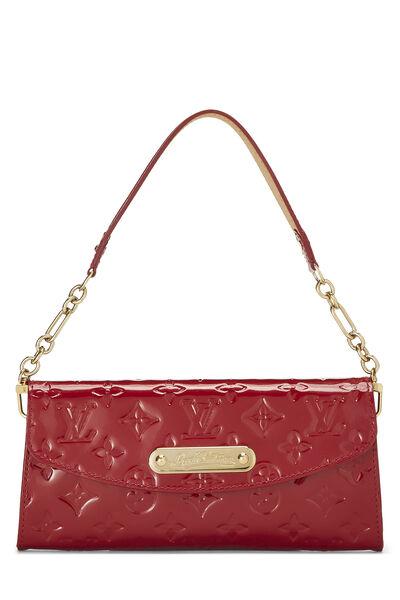 Cerise Monogram Vernis Sunset Boulevard Shoulder Bag