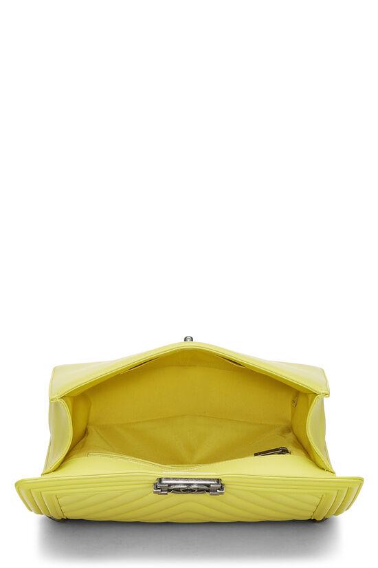 Yellow Chevron Lambskin Boy Bag Medium, , large image number 6