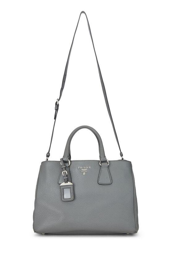 Grey Vitello Daino Handbag, , large image number 6