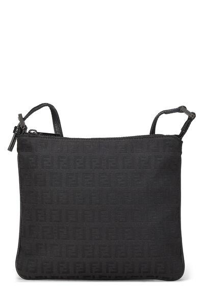 Black Zucchino Canvas Shoulder Bag Small